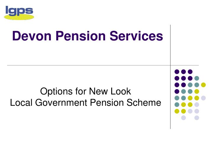 Devon pension services