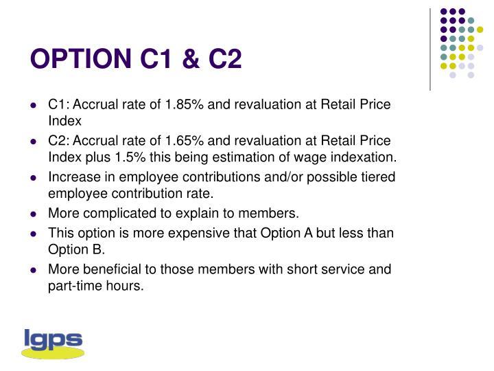 OPTION C1 & C2