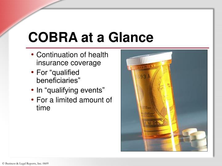 COBRA at a Glance