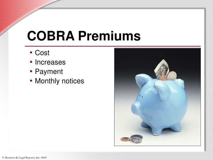COBRA Premiums