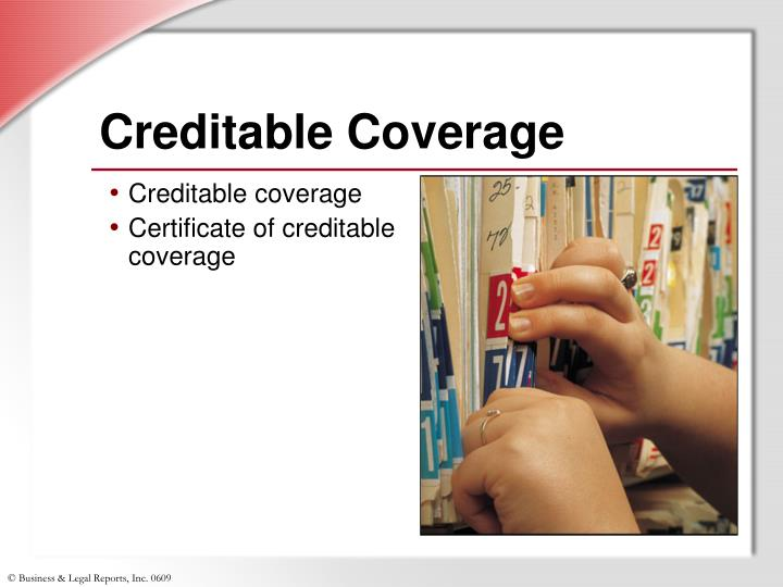 Creditable Coverage