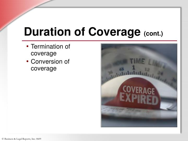 Duration of Coverage