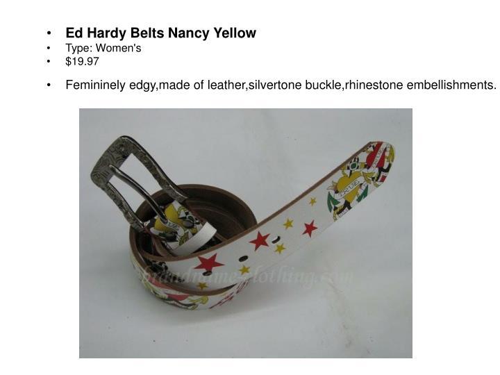 Ed Hardy Belts Nancy Yellow