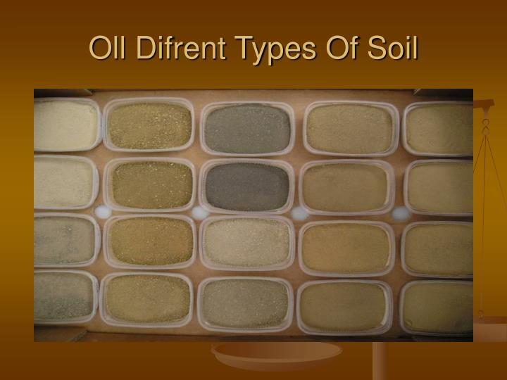 Oll Difrent Types Of Soil