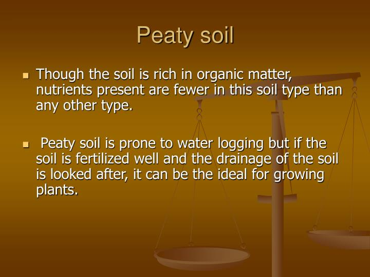 Peaty soil