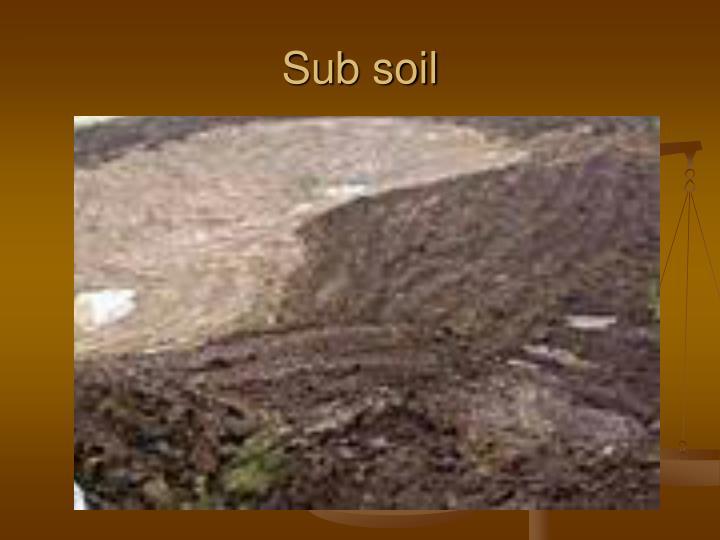 Sub soil