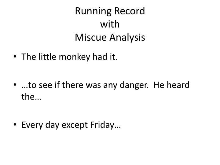 Running Record
