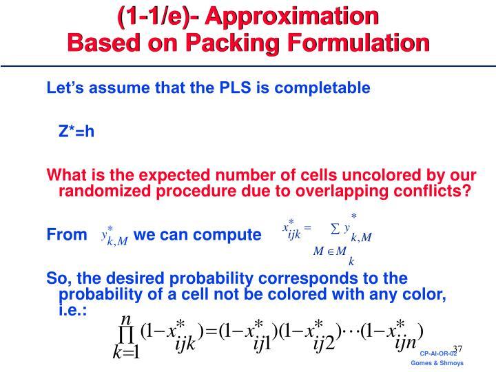(1-1/e)- Approximation