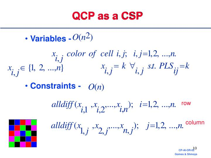 QCP as a CSP