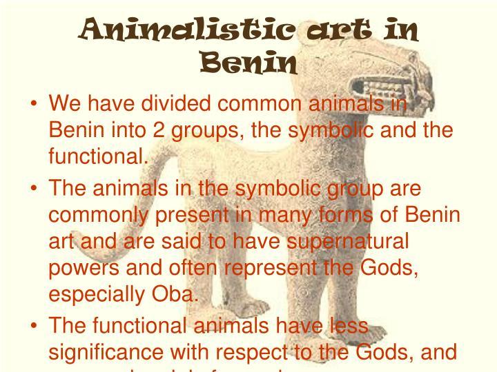 Animalistic art in Benin
