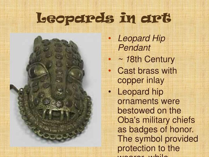 Leopards in art