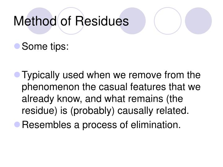 Method of Residues