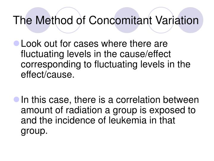 The Method of Concomitant Variation