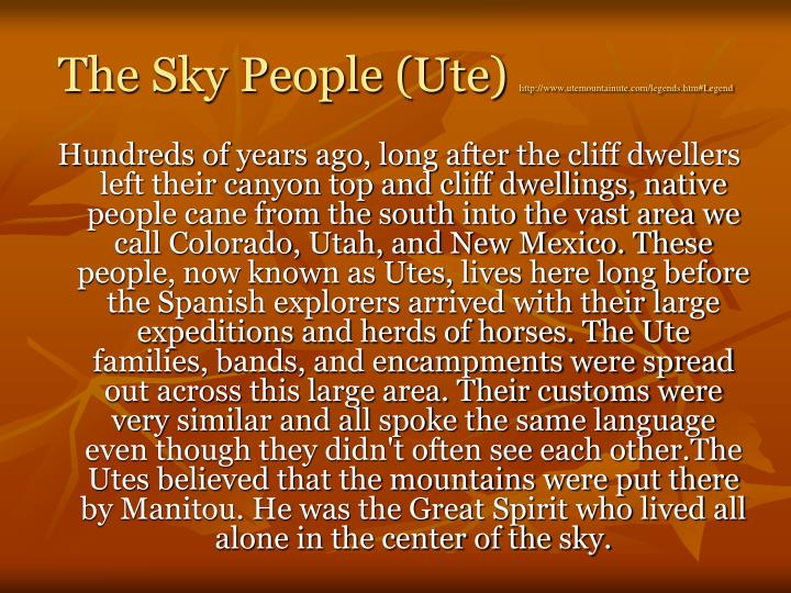 The Sky People (Ute)