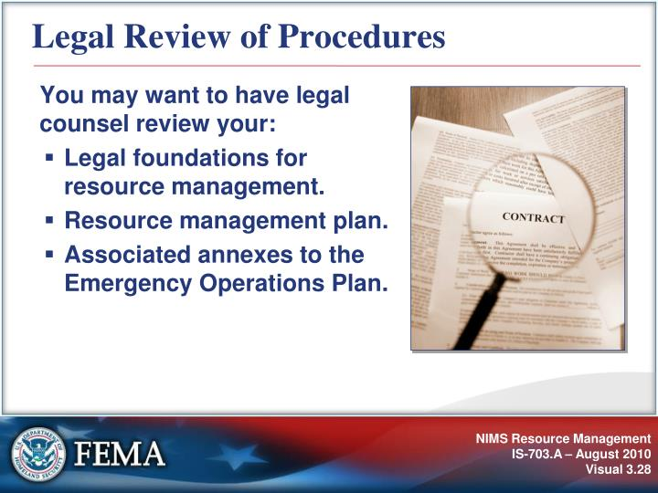 Legal Review of Procedures