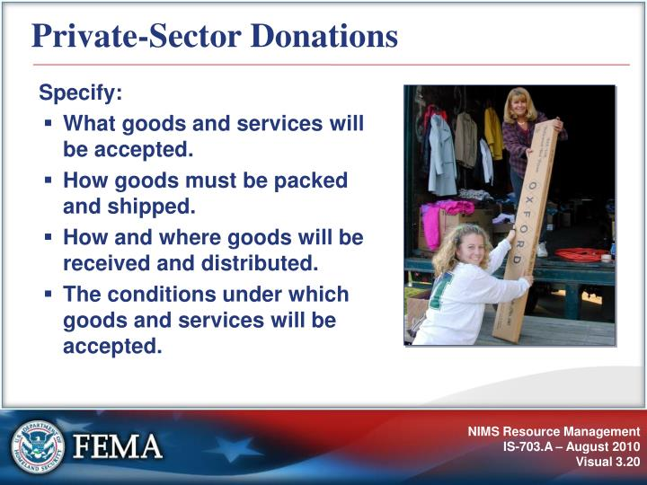 Private-Sector Donations