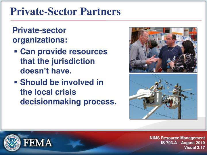 Private-Sector Partners