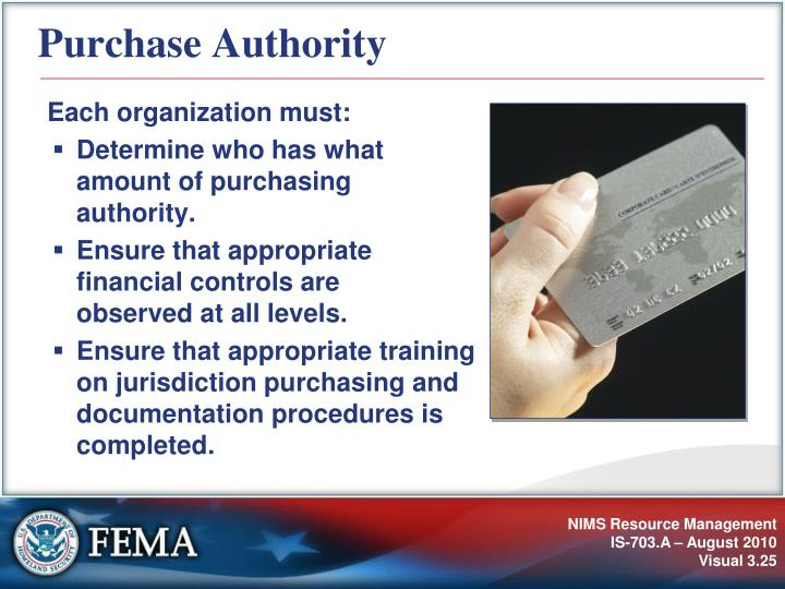 Purchase Authority
