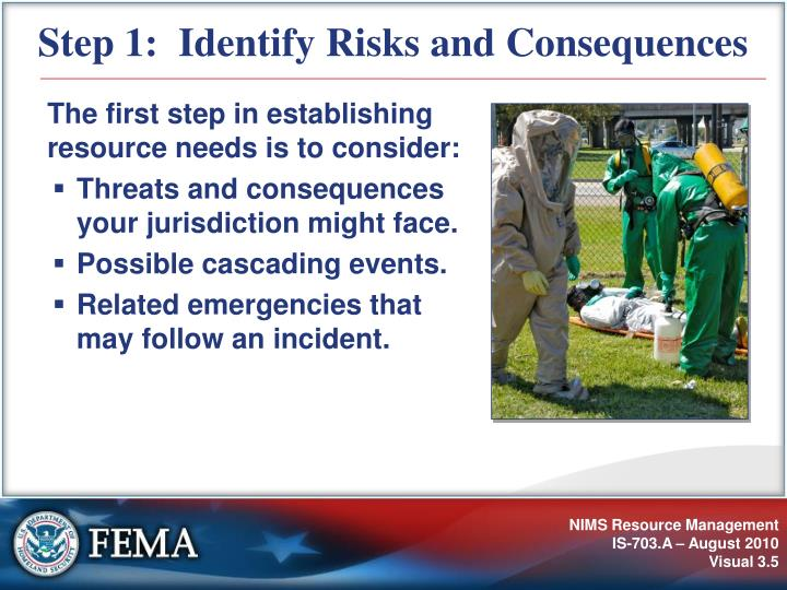 Step 1:  Identify Risks and Consequences