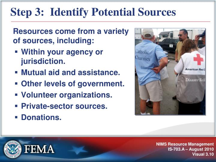 Step 3:  Identify Potential Sources