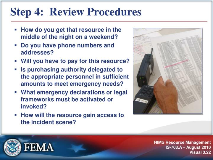 Step 4:  Review Procedures