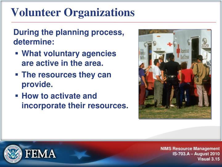 Volunteer Organizations