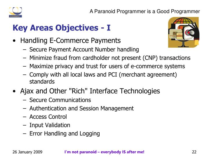 Key Areas Objectives - I