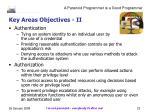 key areas objectives ii