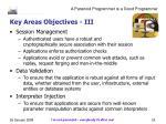 key areas objectives iii