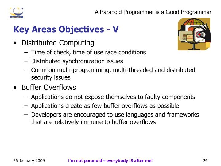 Key Areas Objectives - V