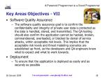 key areas objectives vii