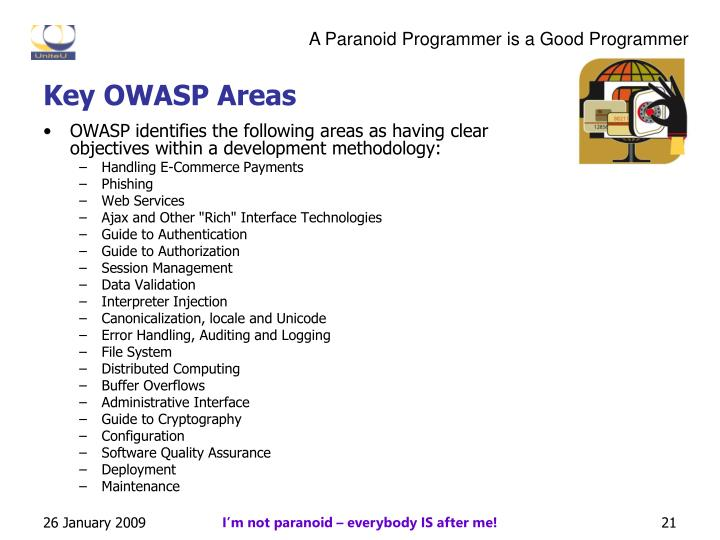 Key OWASP Areas