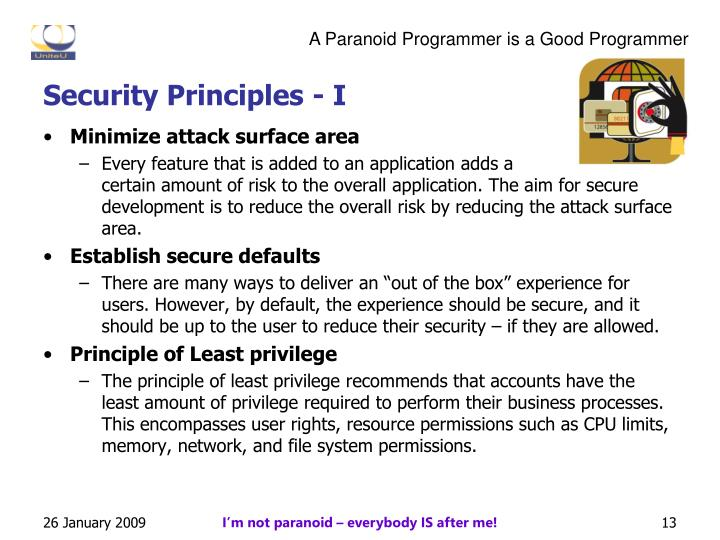 Security Principles - I