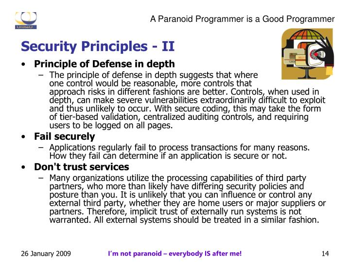 Security Principles - II