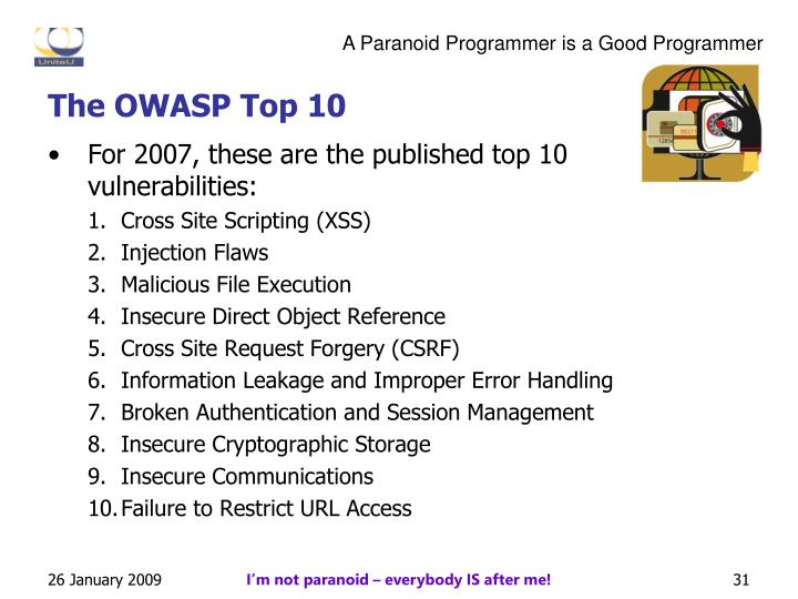 The OWASP Top 10