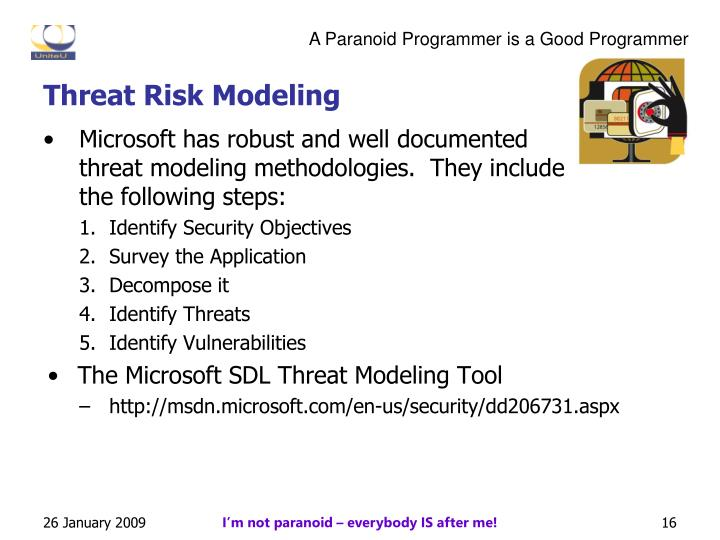 Threat Risk Modeling