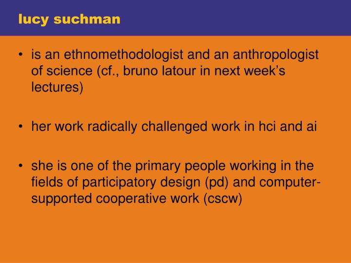 lucy suchman