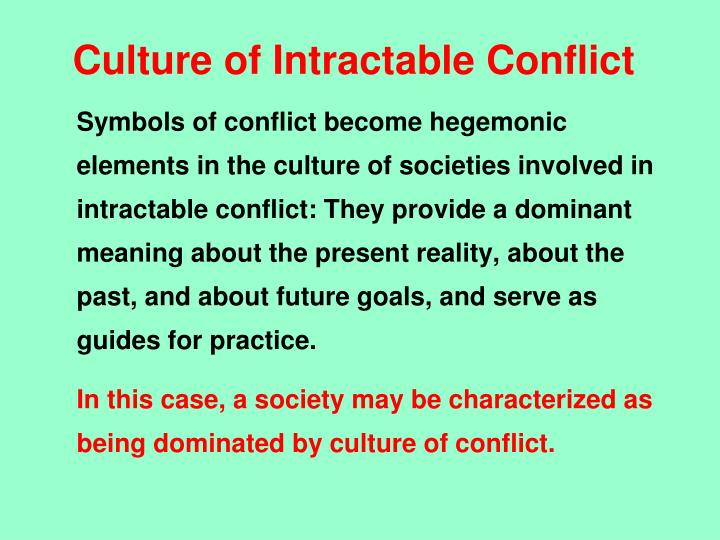Culture of Intractable Conflict