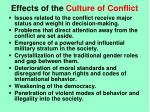 effects of the culture of conflict