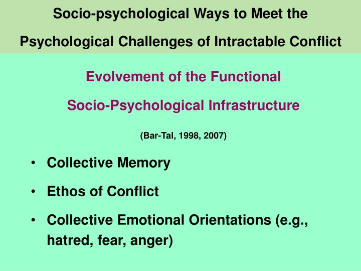 Socio-psychological Ways to Meet the
