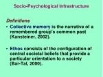 socio psychological infrastructure1