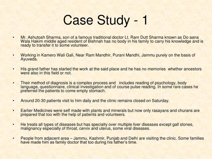 Case Study - 1