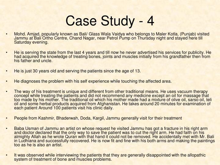 Case Study - 4
