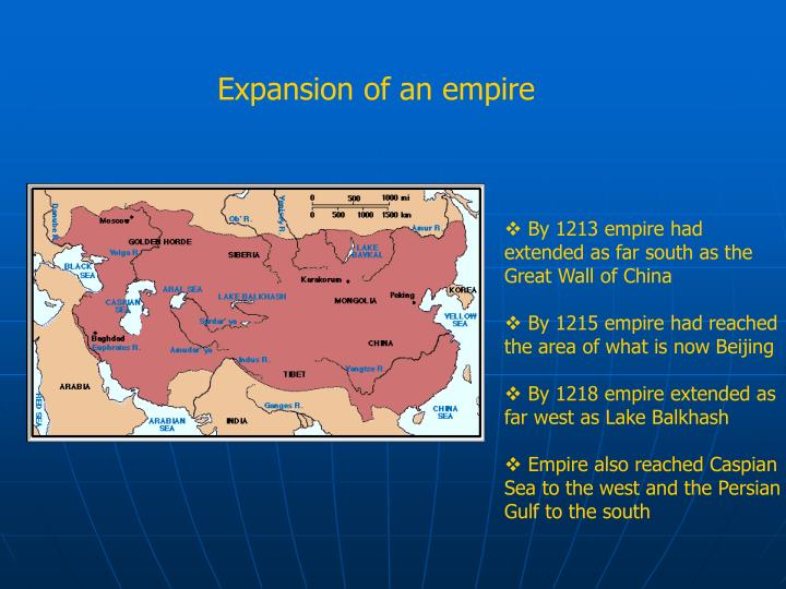 Expansion of an empire