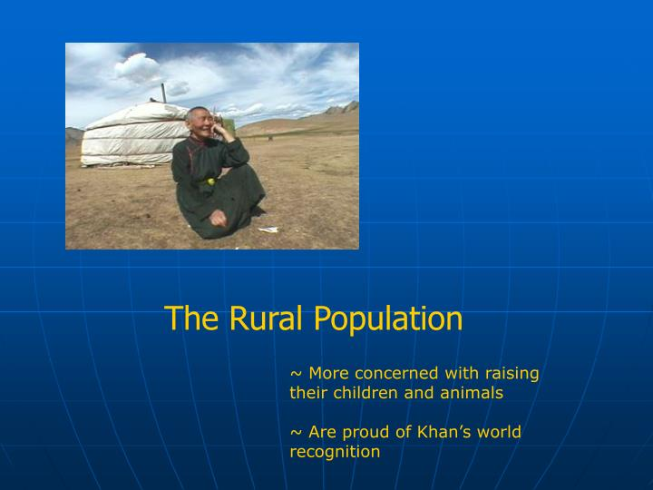 The Rural Population