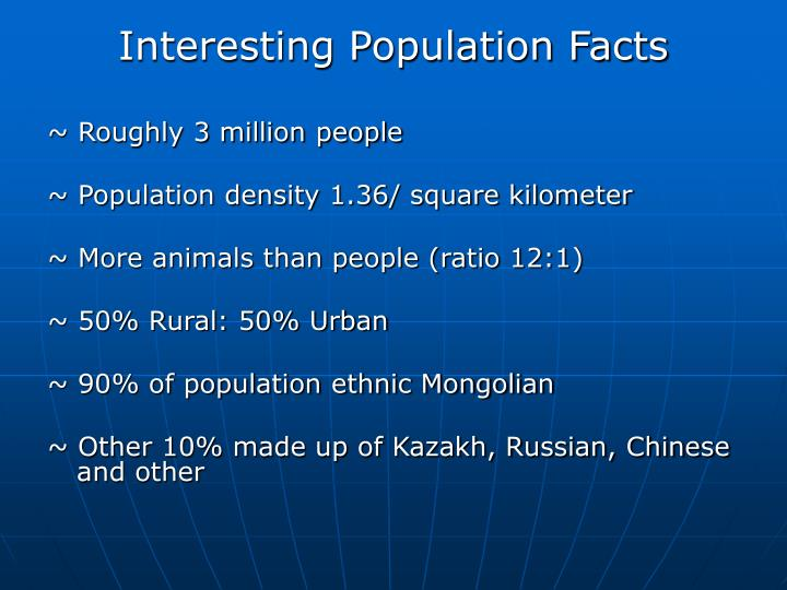 Interesting Population Facts