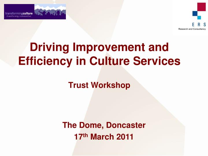 Driving Improvement and Efficiency in Culture Services