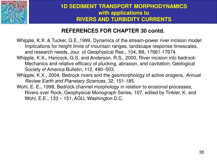 REFERENCES FOR CHAPTER 30 contd.