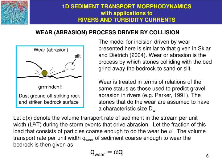 WEAR (ABRASION) PROCESS DRIVEN BY COLLISION
