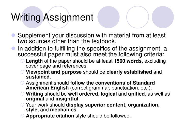 assignment report writing format